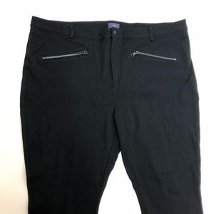 NYDJ Black Stretchy Zippered Pants Size 24W